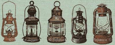Lanterns on Burlap