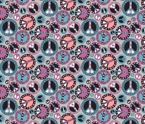 Peace Mulberry fabric by mag-o on Spoonflower - custom fabric