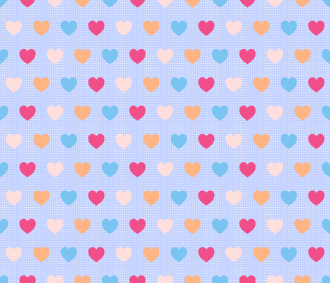 Heart Confetti {3} fabric by illustrative_images on Spoonflower - custom fabric