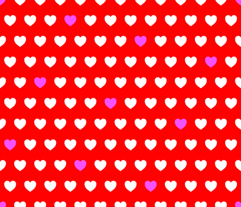 Heart Confetti {1} fabric by illustrative_images on Spoonflower - custom fabric