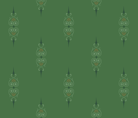 green_art_deco_2a fabric by wiccked on Spoonflower - custom fabric