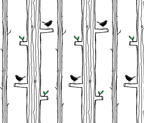 Street Trees fabric by jenimp on Spoonflower - custom fabric