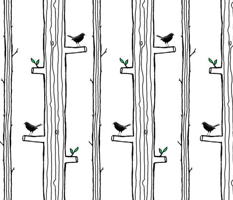 Street Trees fabric by jenimp on Spoonflower - custom fabric