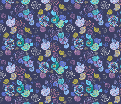 ammonites fabric by coggon_(roz_robinson) on Spoonflower - custom fabric