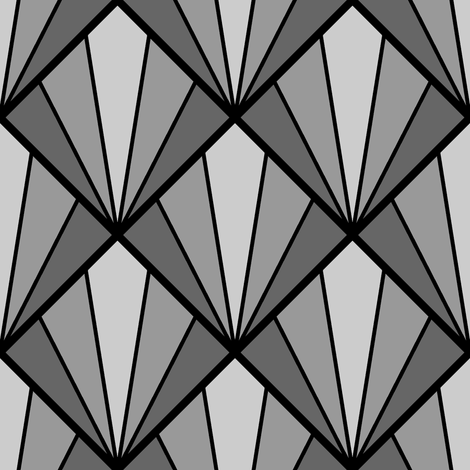 deco diamond 5K : grey fabric by sef on Spoonflower - custom fabric