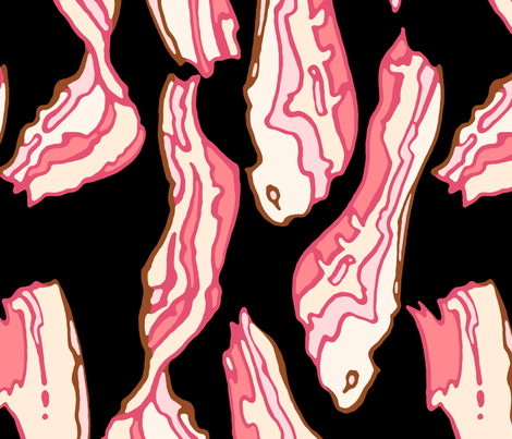 Giant Bacon 2 fabric by jadegordon on Spoonflower - custom fabric