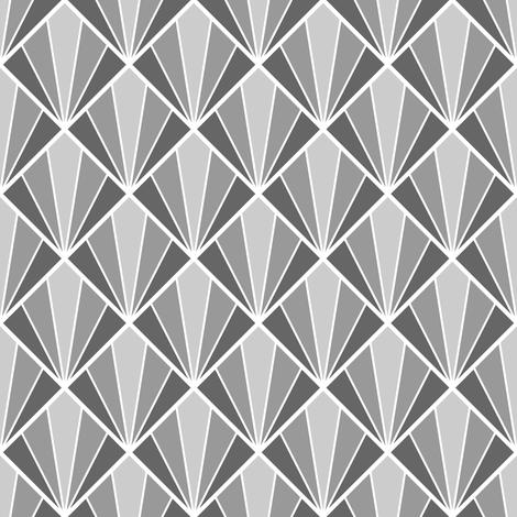 deco diamond 5W : grey fabric by sef on Spoonflower - custom fabric