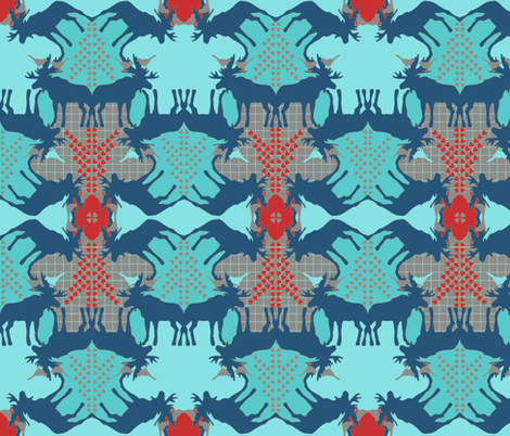 mooses - elk fabric by katarina on Spoonflower - custom fabric