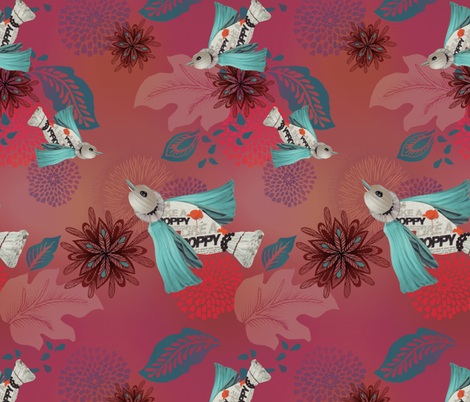 Poppy In Flight fabric by milliondollardesign on Spoonflower - custom fabric