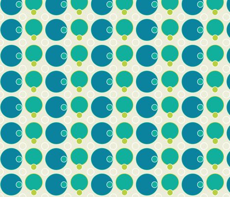 polka_dots_blue fabric by christine_gibson on Spoonflower - custom fabric