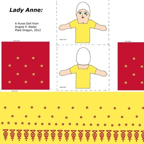 Lady Ann Purse Doll in Gold and Red
