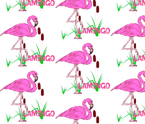 FLAMINGO fabric by bluevelvet on Spoonflower - custom fabric