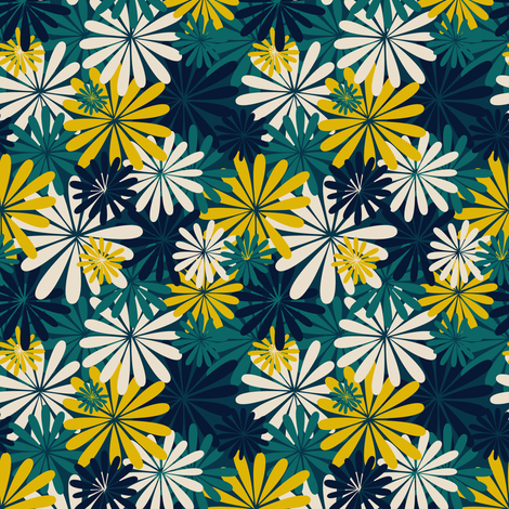 Jane Flowers fabric by einekleinedesignstudio on Spoonflower - custom fabric