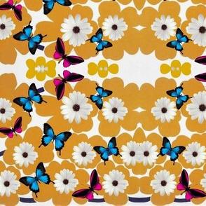 'Marikko'-type Flowers & Butterflies