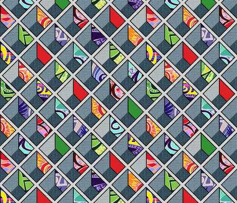 Cell Block fabric by spellstone on Spoonflower - custom fabric