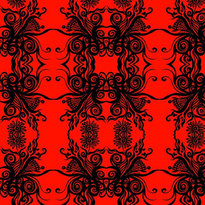 Good Energy Red Damask
