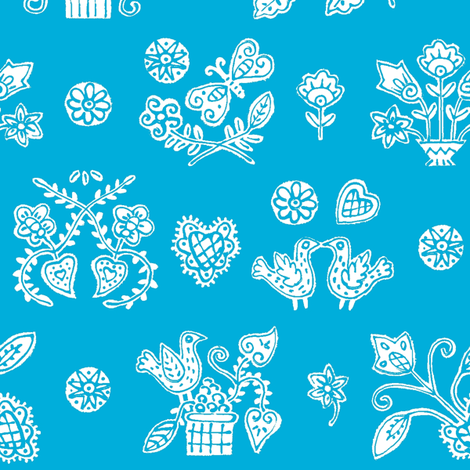 Blue Lolly fabric by yellowstudio on Spoonflower - custom fabric
