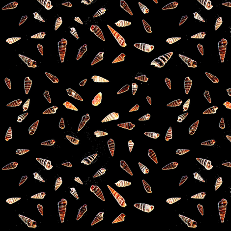 Ditsy Shells fabric by farrellart on Spoonflower - custom fabric