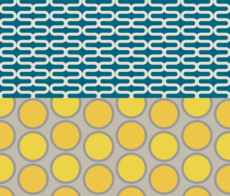 kunda_ocean_and_mod_circles_half_yard fabric by holli_zollinger on Spoonflower - custom fabric