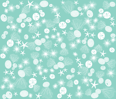 urchins & coral fabric by walsh|studio on Spoonflower - custom fabric