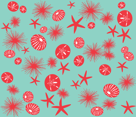 Sea urchins - large print fabric by walsh|studio on Spoonflower - custom fabric