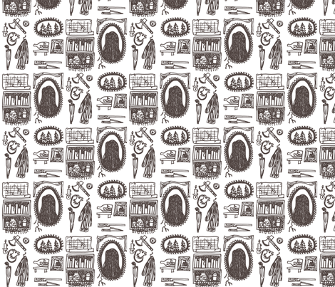 in the woods fabric by yarnmoth on Spoonflower - custom fabric