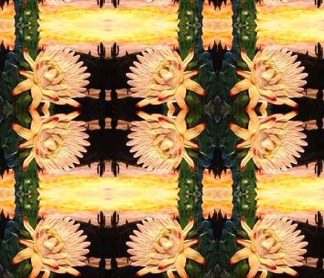cactus flower big fabric by krs_expressions on Spoonflower - custom fabric