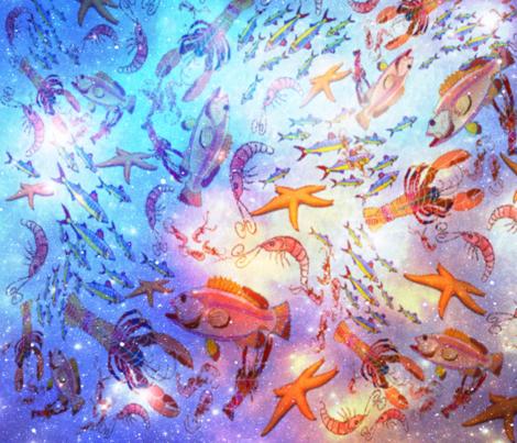 OCEANOGRAPHY fabric by bluevelvet on Spoonflower - custom fabric