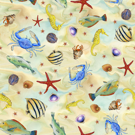 Seaside Shanty fabric by bernardine on Spoonflower - custom fabric