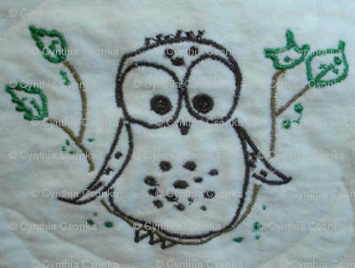 Thread Art Checky Owl