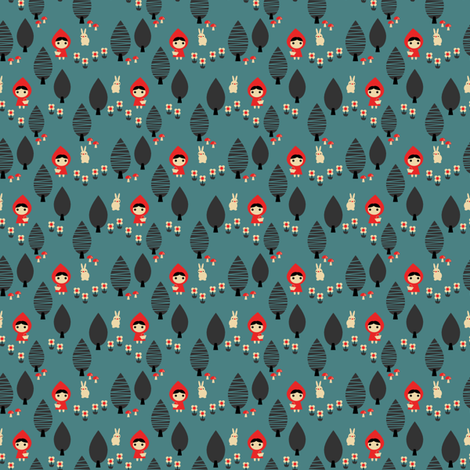 Red riding hood 13 fabric by rosalie409 on Spoonflower - custom fabric