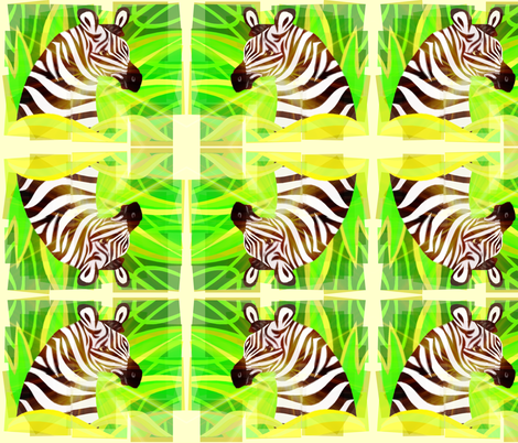 ZEBRA JUNGLE fabric by bluevelvet on Spoonflower - custom fabric