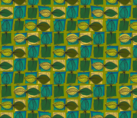 Summer Leaves fabric by woodle_doo on Spoonflower - custom fabric