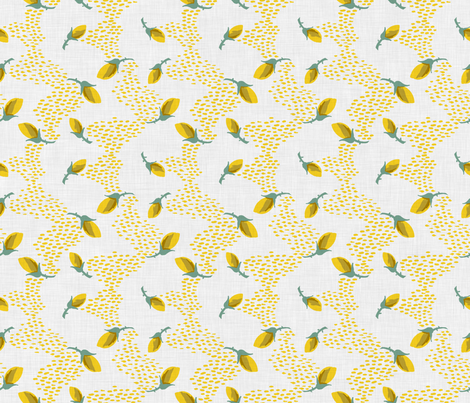 Rosebud Wave fabric by needlebook on Spoonflower - custom fabric