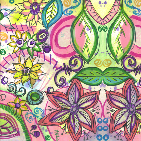 Spring Floral fabric by asouthernladysdesigns on Spoonflower - custom fabric