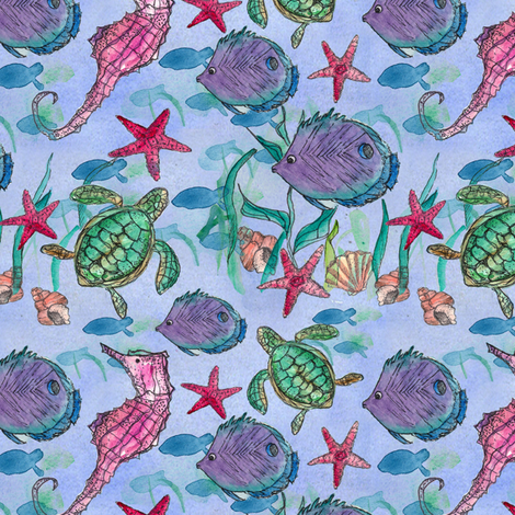 Under the Sea fabric by countrygarden on Spoonflower - custom fabric