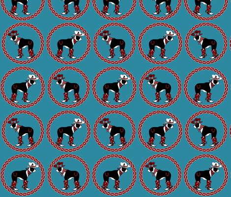 Howdy Patriotic Boston Terriers fabric by missyq on Spoonflower - custom fabric