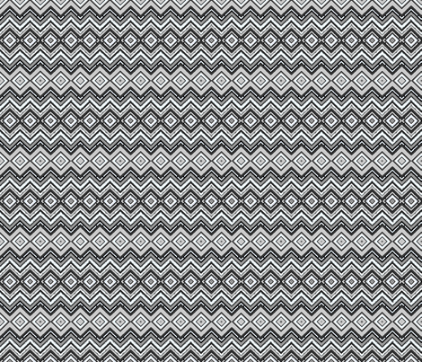 gray zig zag fabric by krs_expressions on Spoonflower - custom fabric
