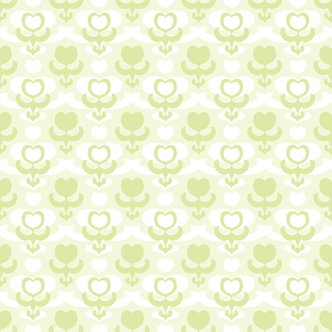 galant_softgreen fabric by lilliblomma on Spoonflower - custom fabric