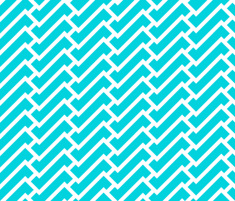 fretwork in turquoise fabric by domesticate on Spoonflower - custom fabric