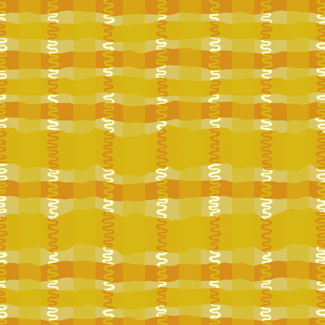 Squiggle Plaid- Warm Colorway fabric by gsonge on Spoonflower - custom fabric