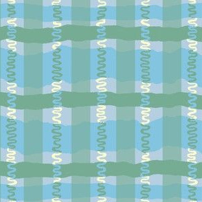 Squiggle Plaid- Cool Colorway