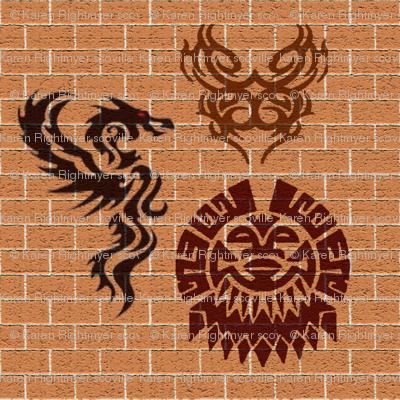 tribal graffiti