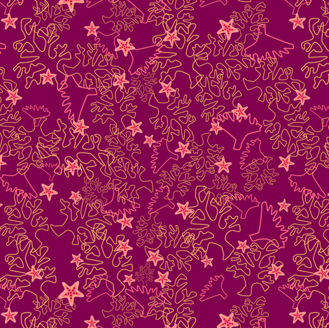 Seafloor Floral fabric by violet's_pet_spider on Spoonflower - custom fabric
