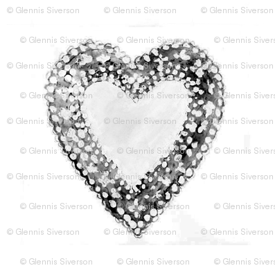 Black and White Lace Hearts