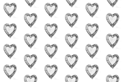 Black and White Lace Hearts fabric by glennis on Spoonflower - custom fabric