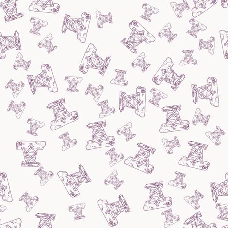 Vintage camera - purple  fabric by rachml on Spoonflower - custom fabric