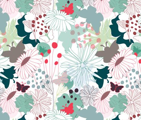Wonderland #2# fabric by demigoutte on Spoonflower - custom fabric