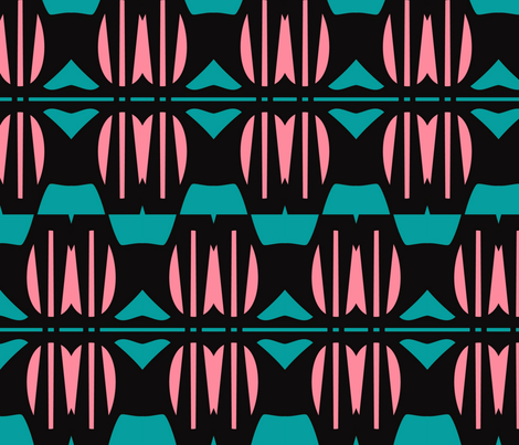 Art Deco Flower fabric by stoflab on Spoonflower - custom fabric