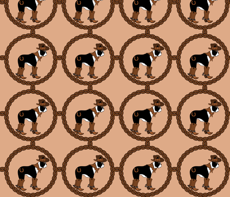Cowgirl Boston fabric by missyq on Spoonflower - custom fabric